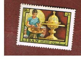 LIBANO (LEBANON) -  SG 1161 - 1973  HANDICRAFTS: METAL-WORKING  - USED ° - Libano