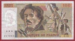 """100 Francs """"Delacroix"""" 1979 ---F/TTB+--Série -U.15 - 1962-1997 ''Francs''"""