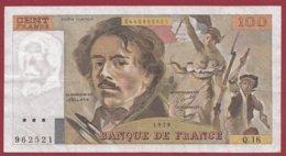 "100 Francs ""Delacroix"" 1979 ---F/TTB+--Série -Q.18 - 1962-1997 ''Francs''"