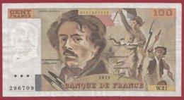 """100 Francs """"Delacroix"""" 1979 --VG/TTB--Série -W.21 - 1962-1997 ''Francs''"""