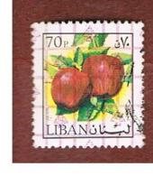 LIBANO (LEBANON) -  SG 1237 - 1978 APPLES (OVERPRINTED)  - USED ° - Libano