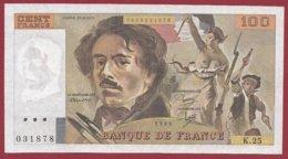 """100 Francs """"Delacroix"""" 1980 --VF/SUP--Série -K.25 - 1962-1997 ''Francs''"""