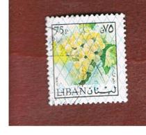 LIBANO (LEBANON) -  SG 1238 - 1978 GRAPES (OVERPRINTED)  - USED ° - Libano