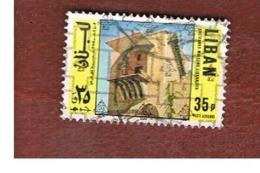 LIBANO (LEBANON) -  SG 1243 - 1978 HOUSE (OVERPRINTED)  - USED ° - Libano