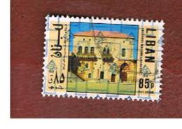 LIBANO (LEBANON) -  SG 1245 - 1978 BUILDINGS (OVERPRINTED)  - USED ° - Libano