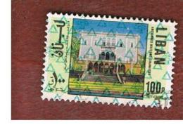 LIBANO (LEBANON) -  SG 1246 - 1978 HOUSE (OVERPRINTED)  - USED ° - Libano