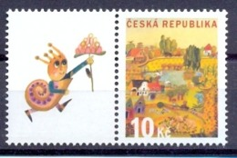 CZ 2008-572 GREATING STAMPS, CZECH REPUBLIK, 1 X 1v + Label, MNH - Nuevos