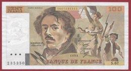 """100 Francs """"Delacroix"""" 1983 --VF/SUP--Série -S.67 - 1962-1997 ''Francs''"""