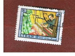 LIBANO (LEBANON) -  SG 1252 - 1978 HANDICRAFTS: WEAWING  (OVERPRINTED)  - USED ° - Libano