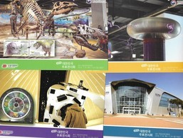 SOUTH KOREA, 2016, MINT POSTAL STATIONERY, 5 PPPs ,GWACHEON NATIONAL SCIENCE MUSEUM, DINOSAURS, SPACE, SPACE, ASTRONOMY - Sciences
