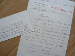 MGR Pierre Louis PECHENARD (1821-1920) Evêque SOISSONS. Vicaire Reims. WW1. AUTOGRAPHE - Autographs