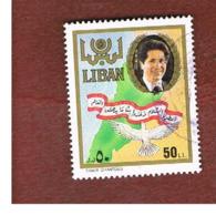 LIBANO (LEBANON) -  SG 1307 - 1988 PRESIDENT GEMAYEL  - USED ° - Libano