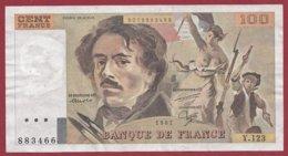"""100 Francs """"Delacroix"""" 1987 --F/TTB+--Série -Y.123 - 1962-1997 ''Francs''"""