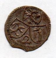 Suisse Canton CHUR, 2 Pfennig, Billon, N.D. (1661), KM #109, Uniface. - Suiza