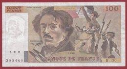 """100 Francs """"Delacroix"""" 1990 --F/TTB+--Série -R.150 - 1962-1997 ''Francs''"""