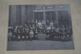 Grande Photo Carton Ancienne Originale,école,institut Saint Aubin,1 Er Année Primaire,1925-1926, 36 Cm. Sur 30 Cm. - Anciennes (Av. 1900)