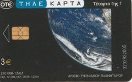 TARJETA TELEFONICA DE GRECIA. Planetarium And Space. Planetarium 4, X1563a (031) - Espacio