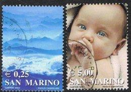 2002 - SAN MARINO - I COLORI DELLA VITA / THE COLORS OF LIFE - USATO / USED - San Marino