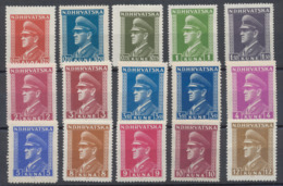 Croatie - Mi N°128/47 (20 Valeurs) **  MNH (1943) / Pavelić - Kroatien