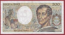 """200 Francs """"Montesquieu"""" 1986 --F/TTB+--Série -m.039 - 1962-1997 ''Francs''"""