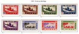 Ex Colonie Française  *  Niger  *  Poste Aérienne Série Complète PA 10/17 N** - Niger (1921-1944)