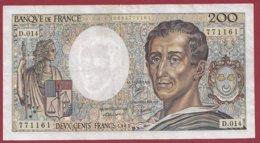 "200 Francs ""Montesquieu"" 1983 --F/TTB+--Série -D.014 - 1962-1997 ''Francs''"