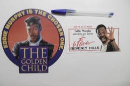 """Autocollant Stickers - Acteur EDDY MURPHY """"The Golden Child"""" Et """"Le Flic De BEVERLY HILLS"""" - Lot De 2 Cinéma Films - Autocollants"""