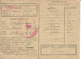 Kriegsgefangenenpost Prisonnier Guerre 1943 Stalag XX B MARIENBURG  + Censure, Colis Croix-Rouge Vers MELIN JODOIGNE - WW II
