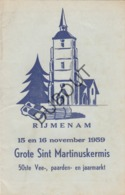 RIJMENAM Sint Martinuskermis 1959    (R258) - Oud