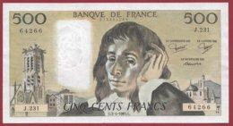 """500 Francs """"Pascal"""" Du 03/04/1985.G --XF/SUP+--Série -M.231 - 1962-1997 ''Francs''"""