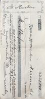 Belgique, Chèque 1930, Scan R/ V. - Cheques En Traveller's Cheques