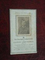 Oorlog 1914-1918 Gaston Leeuwerck Geboren Te Dickebusch 1896 Gesneuveld Op Het Yzerfront Bij Diksmuide 1918  (2scans) - Religión & Esoterismo