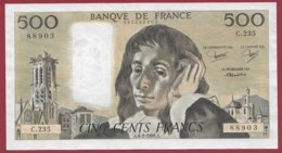 """500 Francs """"Pascal"""" Du 06/02/1986.A --VF/SUP--Série -C.235 - 1962-1997 ''Francs''"""