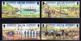 ALDERNEY 1997 GARRISON ISLAND ISOLA COMPLETE SET SERIE COMPLETA MNH - Alderney