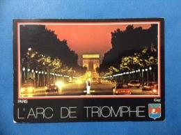 1991 CARTOLINA POST CARD FRANCIA PARIS L'ARC DE TRIOMPHE - France