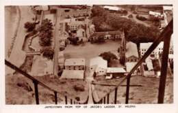 ST. HELENA, JAMESTOWN FROM TOP JACOBS LADDER ~ AN OLD REAL PHOTO POSTCARD #97031 - Saint Helena Island