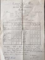 Institut Saint Pierre, 1943, Jette. - Diplômes & Bulletins Scolaires