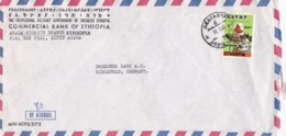 BUSTA VIAGGIATA  BY AIR MAIL - ETHIOPIA - ADDIS ABABA - COMMERCIAL BANK  - VIAGGIATA PER BIELEFELD ( GERMANIA) - Etiopia