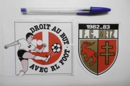 "Autocollant Stickers - Sport FOOTBALL ""DROIT AU BUT"" Et ""FC METZ"" - Lot De 2 Autocollants - Autocollants"
