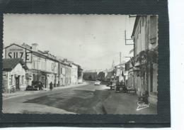 16--TOURRIERS-Une Vue Animée Du Garage J.ROUSSEAU Dans La Rue Prinçipale  La Route De Paris - Autres Communes
