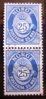 Paire Timbres Oblitérés. Norvège - Type K Regravé. 1974 - Y.T. N° 632. - Oblitérés