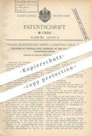 Original Patent - Gerard Featherstone Griffin , Hampton Lodge , England , 1906 , Gewebeteile Verbinden | Stoff , Gewebe - Historische Dokumente