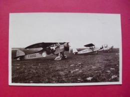 Aérodrome De QUERQUEVILLE  -  Un Groupe D'Avions De L'Aéro Club - France