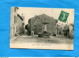 NANS-Fontaine Du Perron--animée  - Voyagé En 1908 édition Laour - Nans-les-Pins
