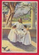 CARTOLINA VG ITALIA - Gesù Tra I Bambini - 10 X 15 - 1948 AVIANO - TASSATA - Gesù