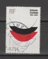 """FRANCE / 2004 / Y&T N° 3658 : """"Entente Cordiale"""" (Lace I De Terry Frost) - Oblitération De Juin 2004. SUPERBE ! - Frankreich"""