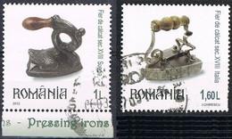 2012 - ROMANIA - ANTICHI FERRI DA STIRO / OLD PRESSING IRONS - USATO / USED - 1948-.... Repubbliche