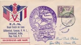 Curacao - 1943 - 35 Cent Luchtpost Op Censored Special Flight Van Willemstad Naar Miami / USA - Curacao, Netherlands Antilles, Aruba