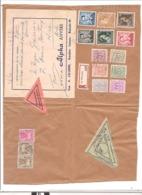 1956 45FRNCS De Taxes Gerbes Sur Fragment De Colis Postal Belge Reco Et Remboursement - Impuestos