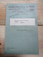 CARTE-LETTRE / 1947 / ECOLE CENTRALE DE T.S.F. PARIS / VERZY (Marne) - Ganzsachen